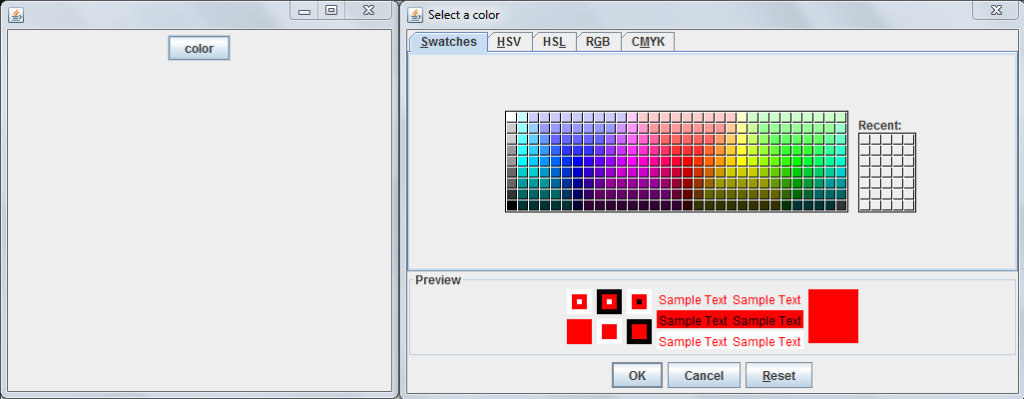 java color chooser